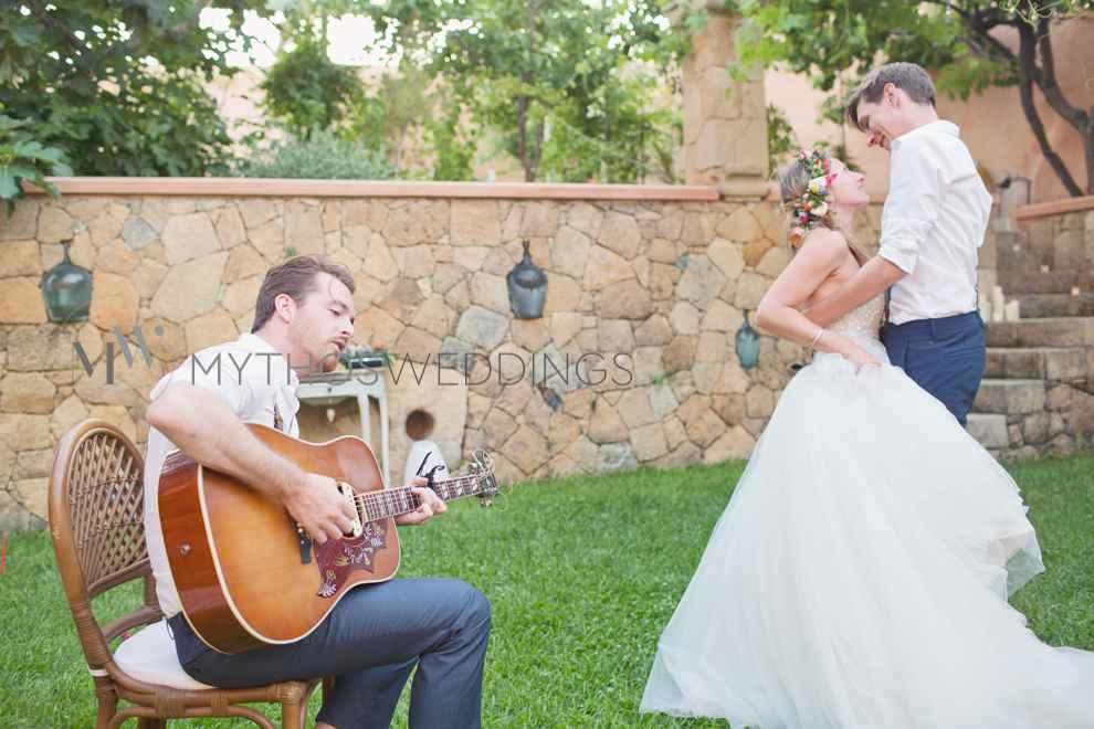 Hochzeitstanz mit Gitarrist